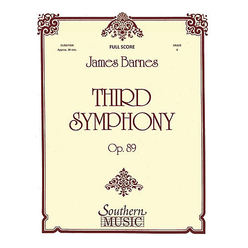 Southern Third Symphony, Op. 89 (Oversized Score) Concert Band Level 5 Composed by James Barnes-thumbnail