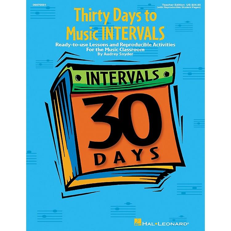 Hal LeonardThirty Days to Music Intervals