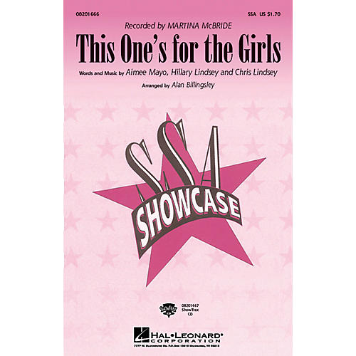 Hal Leonard This One's for the Girls ShowTrax CD Arranged by Alan Billingsley
