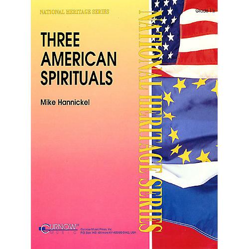 Curnow Music Three American Spirituals (Grade 1.5 - Score Only) Concert Band Level 1.5 Arranged by Mike Hannickel-thumbnail