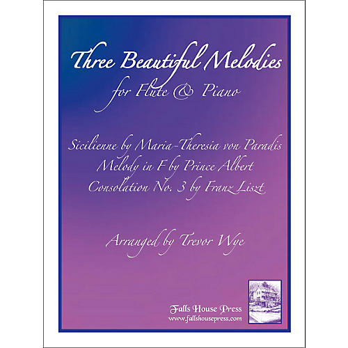 Theodore Presser Three Beautiful Melodies For Flute & Piano (Book + Sheet Music)-thumbnail