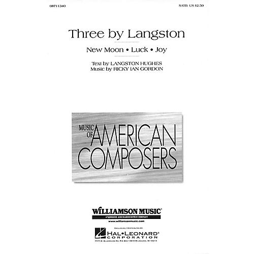 Hal Leonard Three By Langston (SATB) SATB composed by Ricky Ian Gordon