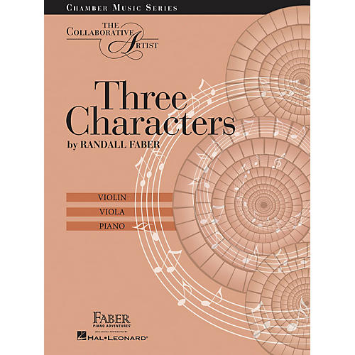 Faber Piano Adventures Three Characters - The Collaborative Artist Faber Piano Adventures by Randall Faber (Level Late Inter)-thumbnail