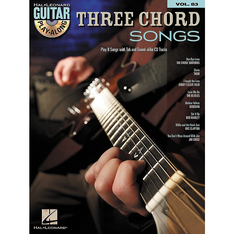 Hal Leonard Three Chord Songs: Guitar Play-Along, Volume 83 (Book/CD)