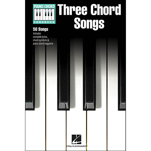 Hal Leonard Three Chord Songs Piano Chord Songbook