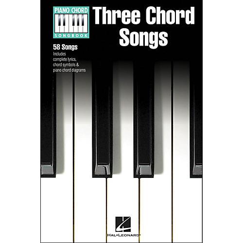 Hal Leonard Three Chord Songs Piano Chord Songbook
