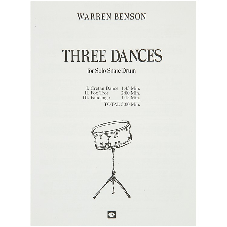 Hal Leonard Three Dances for Solo Snare Drum