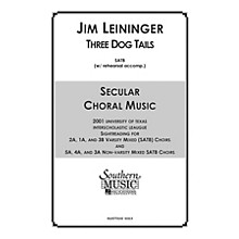 Hal Leonard Three Dog Tails (Choral Music/Octavo Secular Satb) SATB Composed by Leininger, Jim