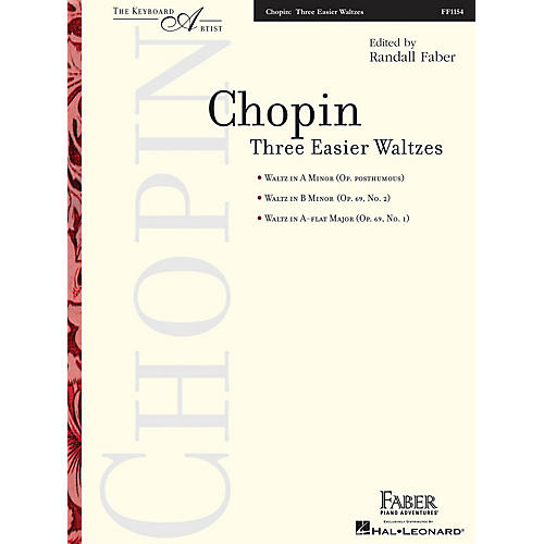 Faber Piano Adventures Three Easier Waltzes (The Keyboard Artist) Faber Piano Adventures® Series Softcover by Frédéric Chopin-thumbnail