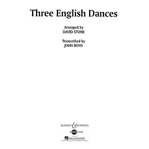 Boosey and Hawkes Three English Dances Concert Band Composed by David Stone Arranged by John Boyd