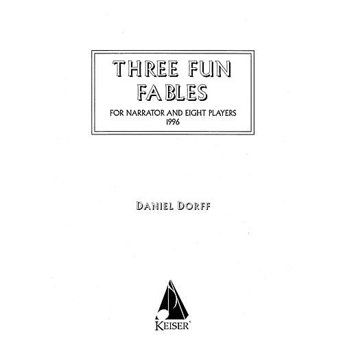 Lauren Keiser Music Publishing Three Fun Fables (for Narrator and Orchestra or Mixed Octet) LKM Music Series  by Daniel Dorff-thumbnail