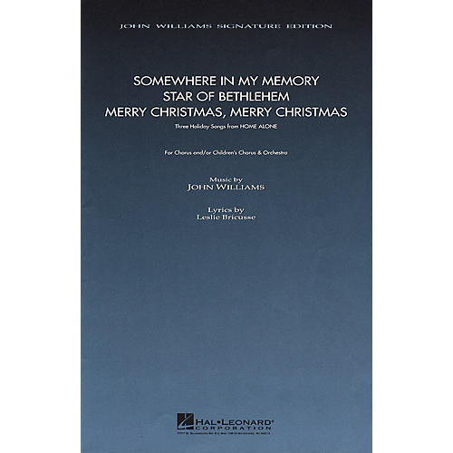 Hal Leonard Three Holiday Songs from Home Alone (SATB Choral) composed by John Williams-thumbnail