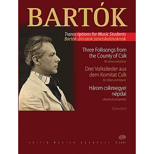 Editio Musica Budapest Three Hungarian Folksongs from the County of Csik EMB Series by Béla Bartók-thumbnail