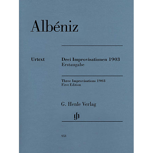 G. Henle Verlag Three Improvisations 1903 Henle Music BK/CD Composed by Isaac Albéniz Edited by Milton R. Laufer-thumbnail