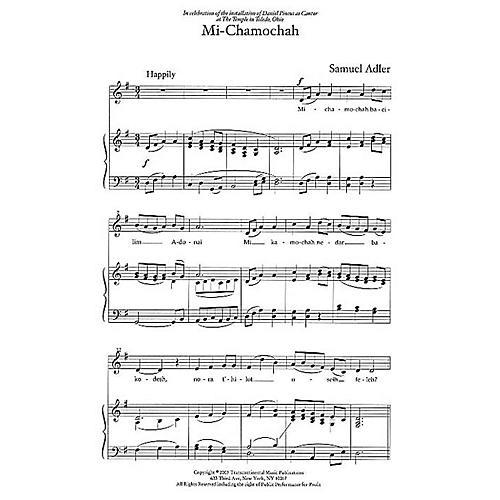 Transcontinental Music Three Liturgical Settings SAB composed by Samuel Adler-thumbnail