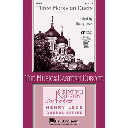Hal Leonard Three Moravian Duets SATB composed by Antonín Dvorák-thumbnail