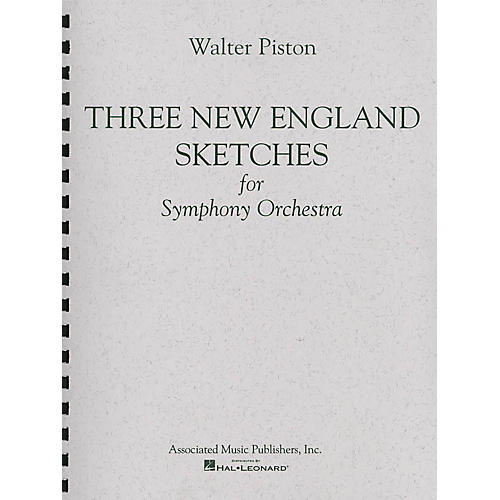 Associated Three New England Sketches (Full Score) Study Score Series Composed by Walter Piston-thumbnail