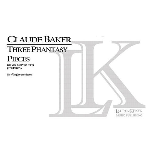 Lauren Keiser Music Publishing Three Phantasy Pieces for Viola and Percussion LKM Music Series by Claude Baker-thumbnail