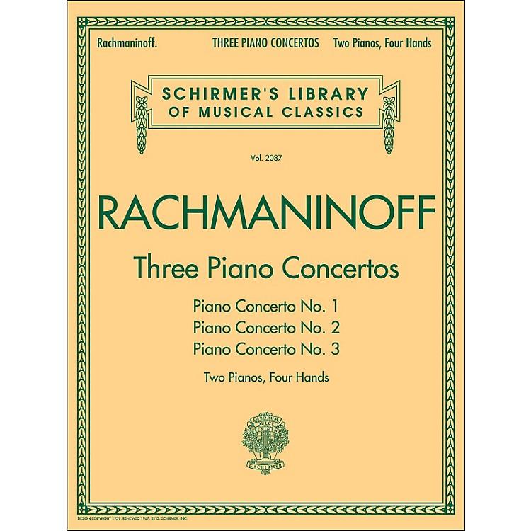 G. SchirmerThree Piano Concertos - Concerto Nos. 1 2 3 - 2 Pianos/4 Hands By Rachmaninoff