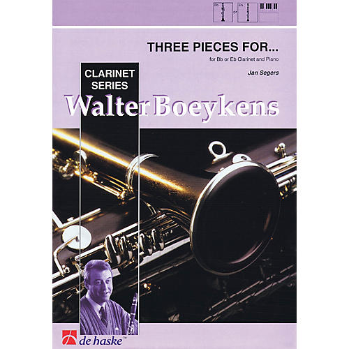 Hal Leonard Three Pieces For B Flat E Flat Clarinet And Piano 3 Pieces Concert Band-thumbnail