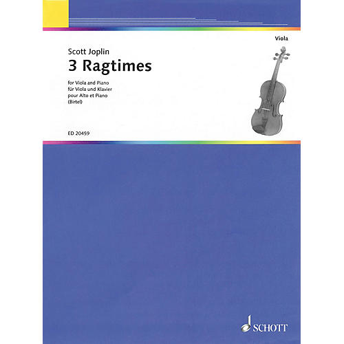Schott Three Ragtimes (for Viola and Piano) String Series-thumbnail