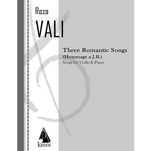 Lauren Keiser Music Publishing Three Romantic Songs for Violin and Piano LKM Music Series