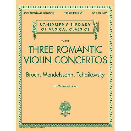 G. Schirmer Three Romantic Violin Concertos: Bruch, Mendelssohn, Tchaikovsky String Series Softcover by Various-thumbnail