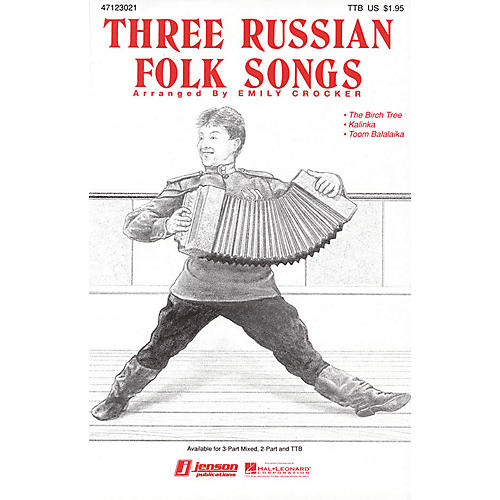 Hal Leonard Three Russian Folk Songs (Medley) TTB arranged by Emily Crocker-thumbnail
