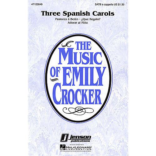 Hal Leonard Three Spanish Carols (Collection) SATB a cappella arranged by Emily Crocker-thumbnail