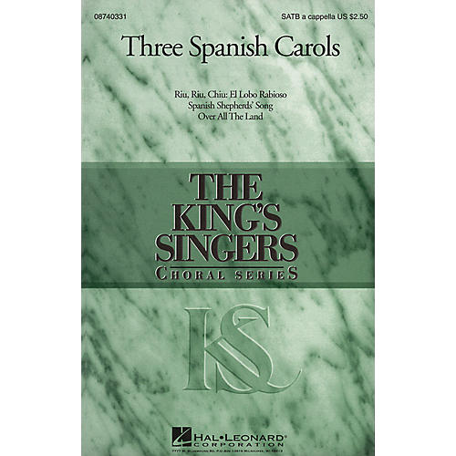 Hal Leonard Three Spanish Carols (Collection) SATB a cappella by The King's Singers arranged by Goff Richards-thumbnail