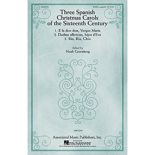 G. Schirmer Three Spanish Christmas Carols of the Sixteenth Century SATB a cappella composed by Anonymous-thumbnail