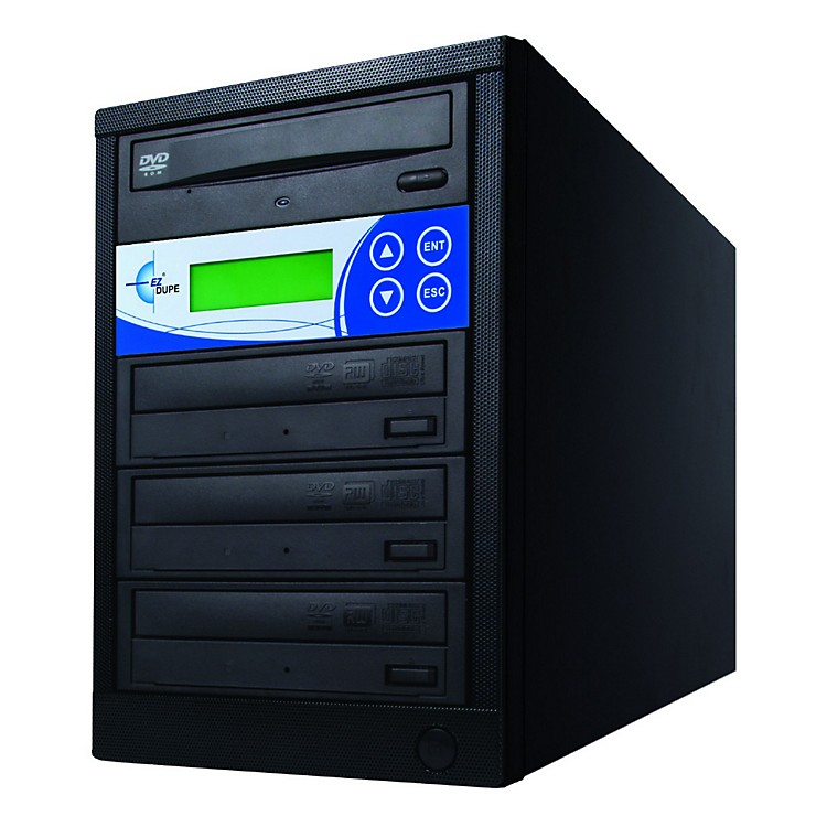EZ Dupe Three Target DVD Duplicator Black