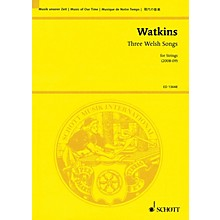 Schott Three Welsh Songs for Strings Study Score Series Softcover Composed by Huw Watkins