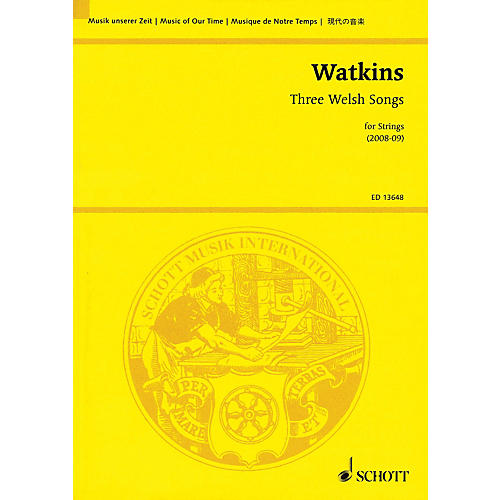 Schott Three Welsh Songs for Strings Study Score Series Softcover Composed by Huw Watkins-thumbnail