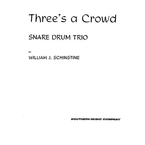 Hal Leonard Three's ( 3) A Crowd (Percussion Music/Snare Drum Ensemble) Southern Music Series Composed by Hoey, Fred-thumbnail