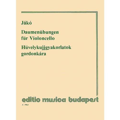 Editio Musica Budapest Thumb Exercises - Violoncello EMB Series