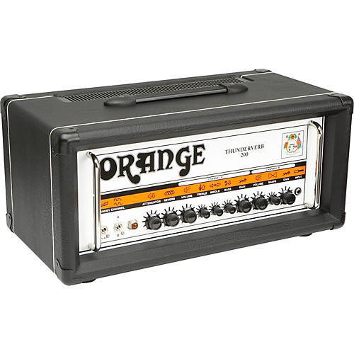 Orange Amplifiers Thunderverb 200 Series TH200HTC 200W Tube Guitar Amp Head Black