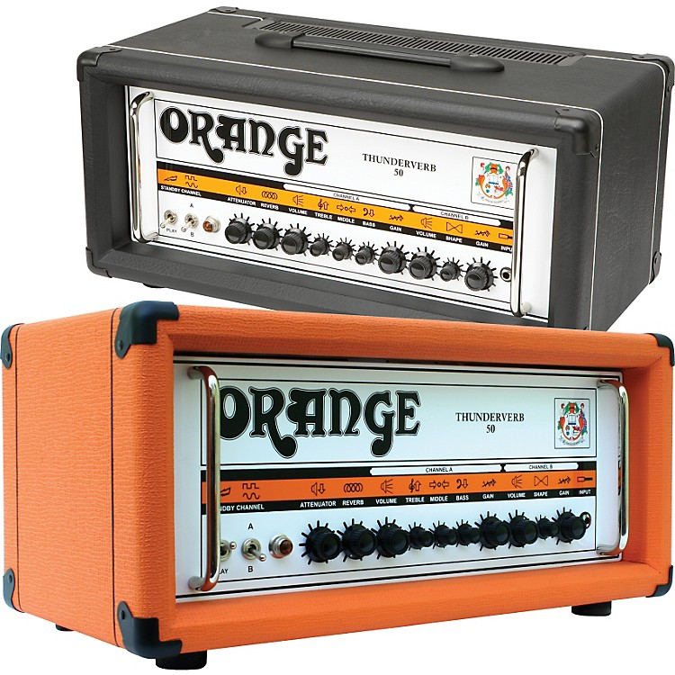 Orange Amplifiers Thunderverb 50 Series TH50HTC 50W Tube Guitar Amp Head Black