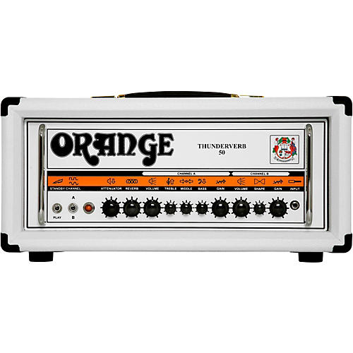 Orange Amplifiers Thunderverb TH50H 50W Tube Guitar Amp Head in Limited Edition White-thumbnail