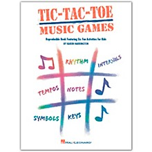 Hal Leonard Tic-Tac-Toe Music Games Reproducible Book Featuring Six Fun Activities For Kids by Harrington