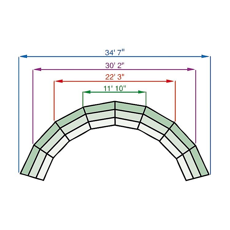 Midwest Folding ProductsTiered Tapered Standing Choral Risers4 Level, Pewter Gray Carpet