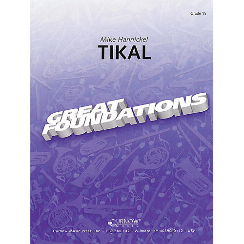 Curnow Music Tikal (Grade 0.5 - Score Only) Concert Band Level .5 Composed by Mike Hannickel-thumbnail