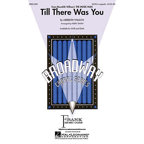 Hal Leonard Till There Was You SATB a cappella arranged by Kirby Shaw-thumbnail