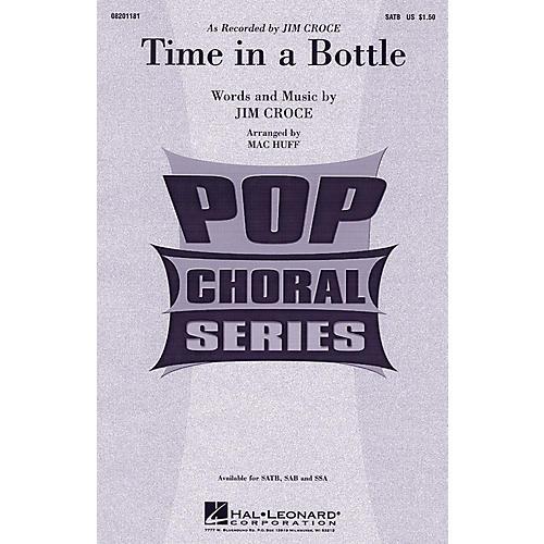 Hal Leonard Time In A Bottle SATB