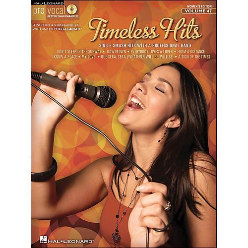 Hal Leonard Timeless Hits - Pro Vocal Songbook for Female Singers Volume 47 Book/CD-thumbnail