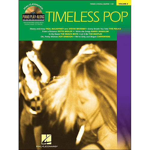 Hal Leonard Timeless Pop Piano Play-Along Volume 3 Book/CD arranged for piano, vocal, and guitar (P/V/G)-thumbnail