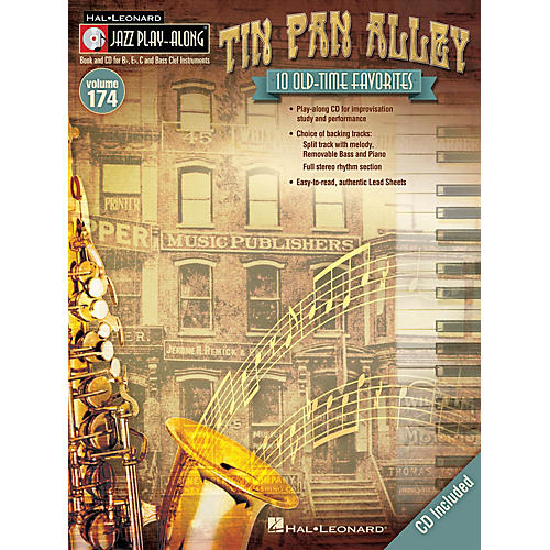Hal Leonard Tin Pan Alley (Jazz Play-Along Volume 174) Jazz Play Along Series Softcover with CD Composed by Various-thumbnail