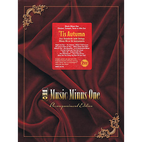 Music Minus One 'Tis Autumn (Jazz Standards with Strings Deluxe 2-CD Set) Music Minus One Series Softcover with CD