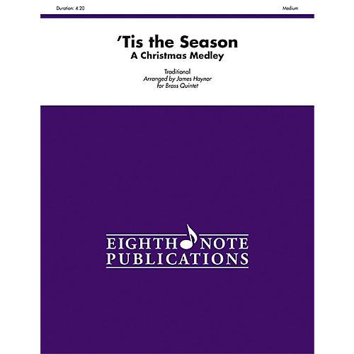 Alfred Tis the Season A Christmas Medley Brass Quintet Score & Parts