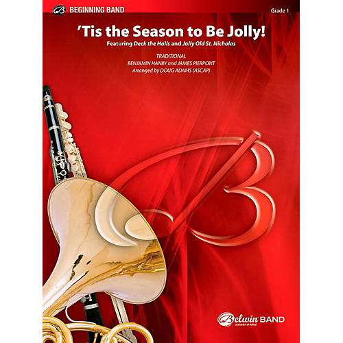 BELWIN Tis the Season to Be Jolly! Concert Band Grade 1 (Very Easy)